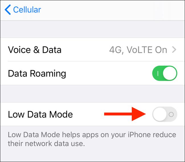 如何在iOS 13 中开启低数据(Low Data)模式