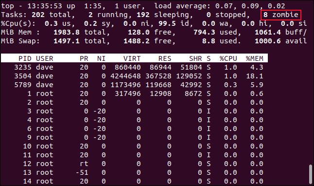 如何在Linux上杀死僵尸进程