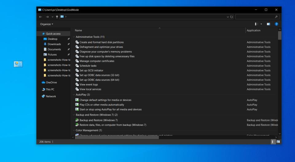 Windows10 启用上帝模式